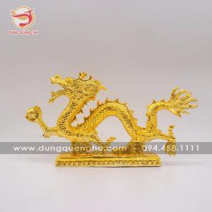 Tượng đồng rồng phong thủy mạ vàng