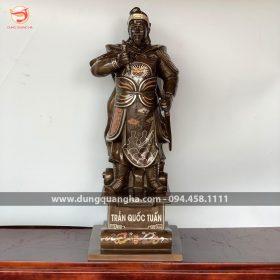 Tượng Đức Thánh Trần Hưng Đạo cao 70 cm khảm ngũ sắc – hàng độc quyền