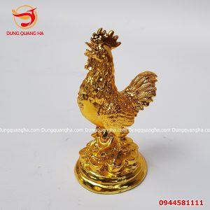Tượng gà trống bằng đồng cao 7cm
