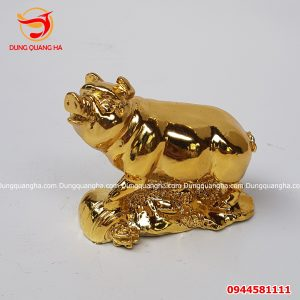 Tượng heo bằng đồng kích thước 6,5cm