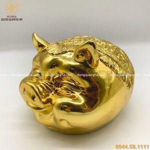 Tượng heo mạ vàng thiết kế độc đáo tinh xảo
