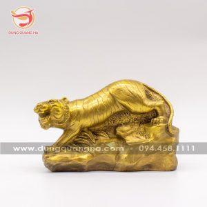 Tượng hổ phong thủy bằng đồng đẹp tinh xảo