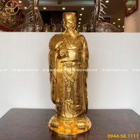 Tượng Khổng Minh bằng đồng cao 90cm dát vàng 9999