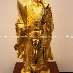Tượng Khổng Minh bằng đồng thếp vàng 9999