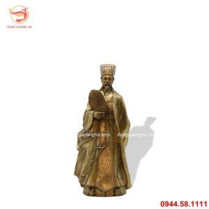 Tượng Khổng Minh Gia Cát Lượng bằng đồng vàng mộc