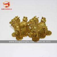 Tượng Kỳ Lân bằng đồng vàng nguyên chất giá rẻ tại Hà Nội