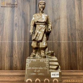 Tượng Lê Lợi cao 40cm bằng đồng khảm tam khí đẹp tinh xảo