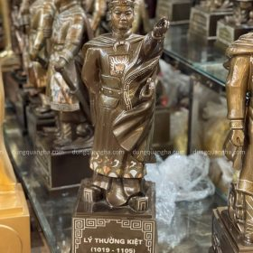 Tượng Lý Thường Kiệt bằng đồng cao 70cm khảm tam khí