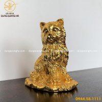 Tượng mèo mạ vàng - Linh vật trang trí, trưng bày đẹp