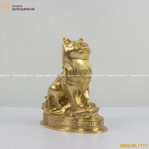 Tượng mèo phong thủy bằng đồng catut đẹp tinh xảo