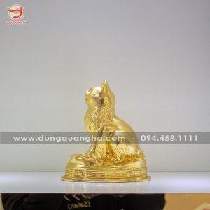 Tượng mèo phong thủy thếp vàng 9999 thiết kế ấn tượng