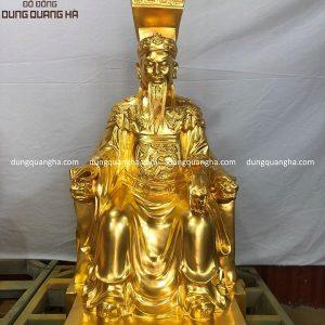 Tượng Ngọc Hoàng Thượng Đế bằng đồng dát vàng cao 60 cm