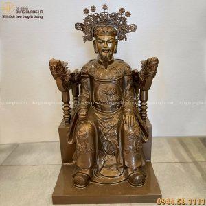 Tượng Ngọc Hoàng Thượng Đế cao 70cm bằng đồng đỏ làm màu