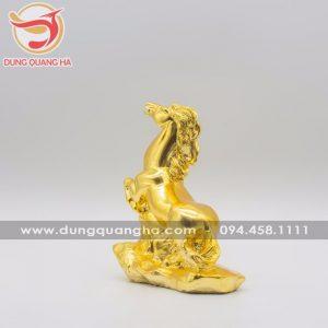 Tượng ngựa bằng đồng mạ vàng cao cấp sống động