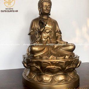 Tượng Phật A Di Đà bằng đồng đỏ tôn nghiêm tinh xảo