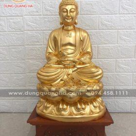 Tượng Phật A Di Đà bằng đồng thếp vàng