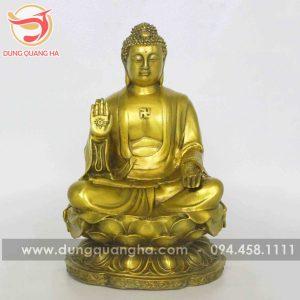 Tượng Phật A Di Đà bằng đồng vàng mộc