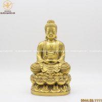 Tượng Phật A Di Đà khoác áo hoa cao 30cm đẹp tôn nghiêm