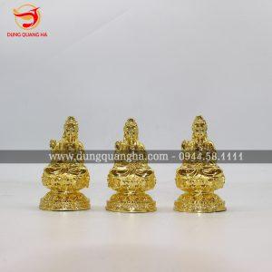 Tượng Phật Bà Quan Âm mạ vàng cỡ nhỏ