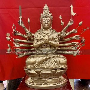 Tượng Phật Chuẩn Đề cao 81cm bằng đồng đẹp tinh xảo