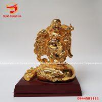 Tượng Phật Di Lặc bằng đồng mạ vàng 24k