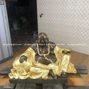 Tượng Phật Di Lặc đẹp tôn nghiêm dát vàng 9999 tinh xảo