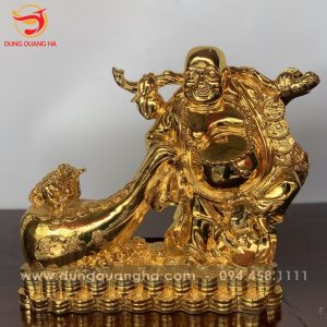 Tượng Phật Di Lặc mạ vàng kéo bao tiền và Thiềm Thừ