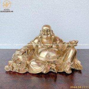 Tượng Phật Di Lặc ngồi an nhiên bằng đồng cát tút mẫu 1