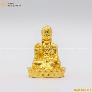 Tượng Phật Thái Lan bằng đồng thếp vàng đẹp tôn nghiêm