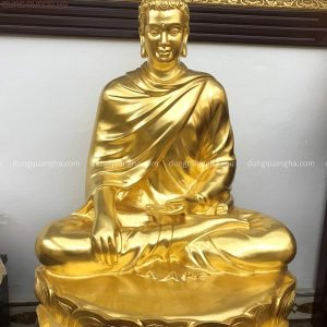 Tượng Phật Thích Ca bằng đồng cao 60cm thếp vàng 9999