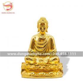 Tượng Phật Thích Ca bằng đồng mạ vàng 24k tinh xảo