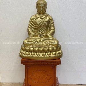 Tượng Phật Thích Ca cao 48cm đẹp tôn nghiêm bằng đồng vàng