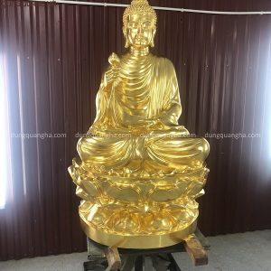 Tượng Phật Thích Ca đẹp bằng đồng cao 1m thếp vàng 9999