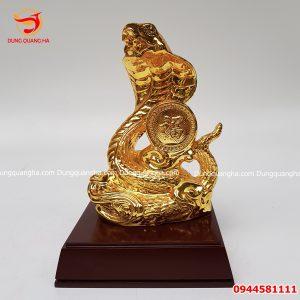 Tượng rắn phong thủy mạ vàng 24k cực đẹp