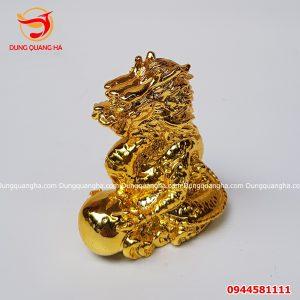Tượng rồng bằng đồng cao 8cm