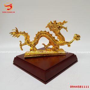 Tượng rồng bằng đồng mạ vàng 24k cực đẹp