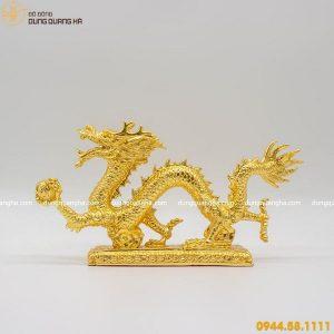 Tượng rồng bằng đồng thếp vàng thiết kế đẹp tinh xảo