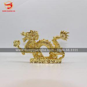 Tượng rồng mạ vàng đẹp tinh xảo, linh vật phong thủy cao cấp