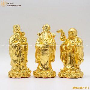 Tượng Tam Đa bằng đồng thếp vàng tinh xảo