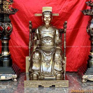 Tượng thần hoàng cao 90cm bằng đồng đỏ đẹp uy nghiêm