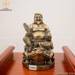 Tượng Thổ Địa bằng đồng cao 25cm hun đen giả cổ