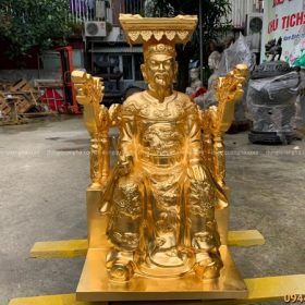 Tượng Vua Cha Ngọc Hoàng bằng đồng cao 70cm thếp vàng 9999