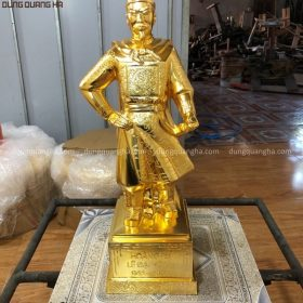 Tượng vua Lê Đại Hành bằng đồng cao 50cm mạ vàng 24k